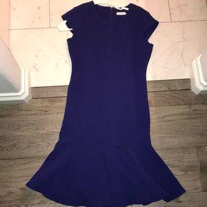 Calvin Klein purple work dress